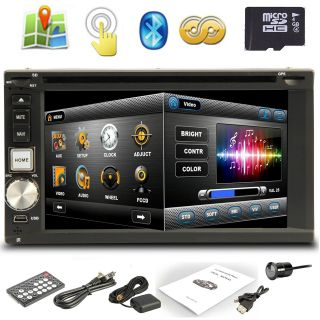 "High Def 7"" in Dash 2 DIN Car Stereo DVD Player GPS Navigation 3D Bluetooth Cam"