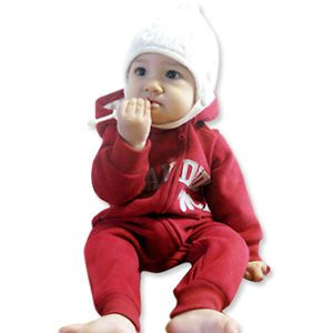 Made in Korea Candide Napping Baby Boy Girl Infant Warm Clothing OA 1033 Red