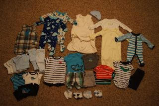Cute Baby Boy Spring Summer Clothing Lot Newborn Size 31 Pieces