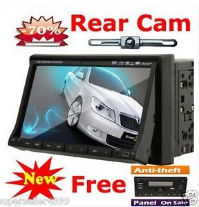 In Deck Double 2 DIN Auto Car DVD CD Player TV Steering Wheel iPod Stereo Camera