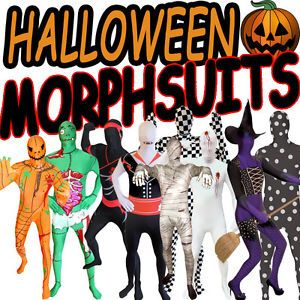 Original Halloween Morphsuits Morphsuit Morph Suit Fancy Dress Costume Suit New
