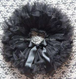 Black Party Costume Ballet Girl Toddler Baby Tutu Skirt 0 5T