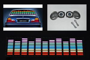 2 Way Car Coaxial Speakers Audio Stereo Sound Equalizer Music Rhythm LED Lights