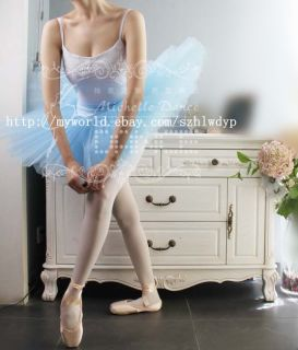 Ballet Professional Hard Organdy Tutu New Adult Blue Ballet Costume Tutu Skirt