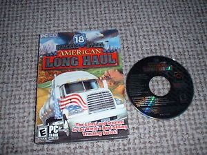 18 Wheels of Steel American Long Haul Truck Driving PC Game PC CD ROM Boxed