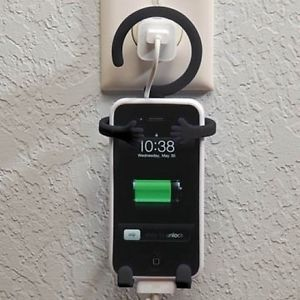 Bondi Fun Flexible Novelty Cell Phone Mount Holder Hanging Man Hugs Mobile