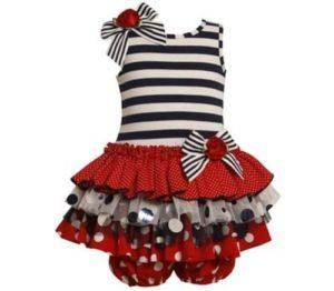 Baby Girls Bonnie Jean Tiered Dress Size 0 3 Months July 4th Summer Clothing