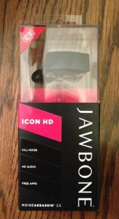 Brand New Factory SEALED Jawbone Icon HD Black Headset w Noise Assassin 2 5 811726019869