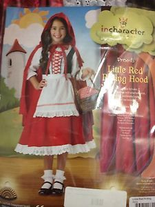 Little Red Riding Hood Child Costume Peasant Dress Kids Size 4 Incharacter