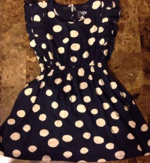 77KIDS Polka Dot Dress 18 24 mos Toddler Girl New Navy Vacation Gift