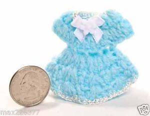 Lot of 12 Baby Shower Crochet Dresses Party Favor Invitations Appliques Craft