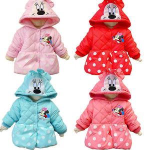 Baby Girls Clothes Minnie Mouse Dot Winter Coat Warm Jacket 1 5Y Snowsuit Lovely