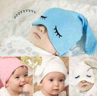 Cotton Baby Infant Kid Ears Eye Hat Girl Boy Toddlers Headwear Sleep Cap Hats