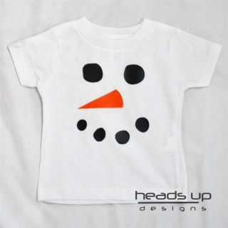 Snowman Face Shirt Frosty Christmas Shirt Boy Girl Toddler Baby Onesie Adult