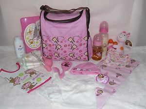 Reborn Baby Doll Diaper Bag Bottles Pacifier Blanket Clothes 4UR Reborn OOAK