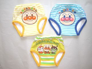 Bandai Anpanman Baby Toddler Kids Boys 3pcs Potty Training Pants Underware 90