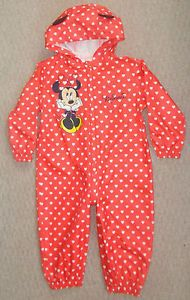 Baby Girls Clothes Minnie Mouse All in One Rain Suit Coat Age 12 18 Mths