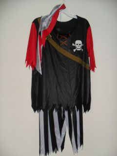 Child Pirate King Halloween Costume Sz Large Dress Up Rubie'S