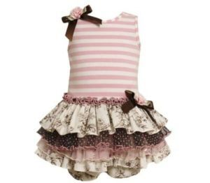 Baby Girls Bonnie Jean Tiered Dress Size 3 6 Months Summer Easter Clothing
