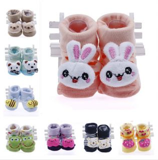 Unisex Newborn Baby Girl Boy Soft Sole Anti Slip Indoor Warm Socks Shoes Boots