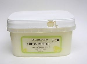 3 lb Raw Pure Organic Cocoa Butter Unrefined Free s H