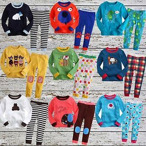 "2pcs Baby Toddler Kids' Clothes Boys Girls Sleepwear Pajama Set ""Savanna"""