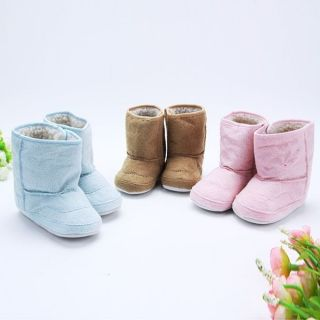 Toddler Baby Kid Warm Snow Boot Infant Thicken Lamb in Tube Shoes Non Slip Sole