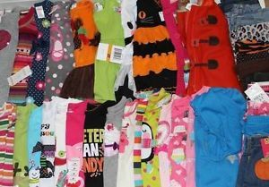 Toddler Girls Lot of 40 Fall Winter Clothes Outfits Sets Dresses Jeans Size 3T