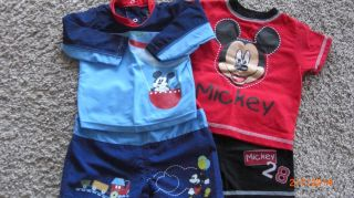 Set of 2 Infant Boy's Mickey Mouse Outfits Size 6 9 Months