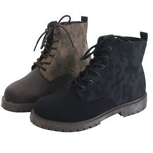 New Mens Military Side Zip Ankle Combat Boots Shoes Korean Fashion US7 US10