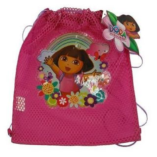 Wholesale Lot 12 Dora Explorer Kids Sling Bag Tote Net Birthday Party Favors New