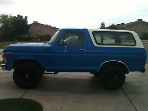 1978 Ford Bronco Custom Sport Utility 2 Door 6 6L