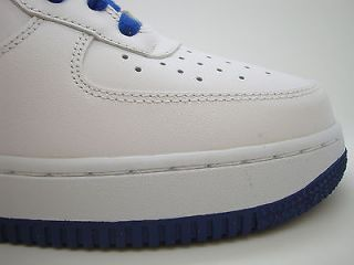 488298 114 Mens Nike Air Force 1 White Old Royal Uptowns Classic Sneakers QS