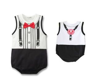 1pc Baby Boy Infant Bodysuit Top Outfit Clothes Romper Bowknot