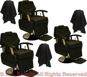 3 x Classic Professional Hydraulic Reclining Barber Chair Beauty Salon Equipment