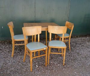Vintage Formica Dining Table 4 Chairs Retro Small Kitchen Diner Set