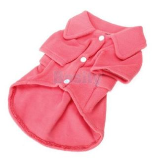 Polar Fleece Pet Dog Puppy Cozy Coat Dress Warm Winter Spring Apparel Red XS