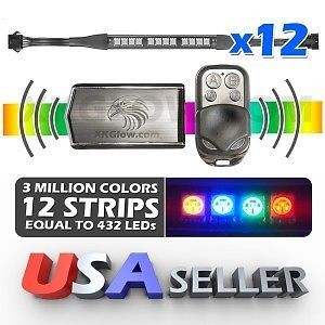3 Million Color 144 LED Motorcycle Underglow Light Kit