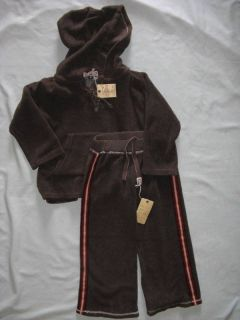 Boutique Hub Cap Luna Luna Copenhagen 2 2T 3 3T Soft Set Outfit Boy Brown
