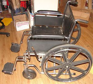 "Wheel Chair XL Big Boy Access Medical AXS 7 24"" Seat with Foot Rests 400lb Cap"