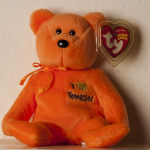 Ty Tennessee Bear Beanie Baby Babies Tennessee Exclusive 2004 Retired FM