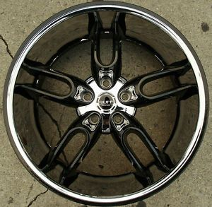 "Ruff Racing 942 20"" Black Rims Wheels Nissan Murano 03 Up 20 x 10 5H 45"