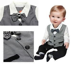 Boy Baby Kid Toddler Gentleman One Piece Romper Jumpsuit Clothes Outfit Clothing