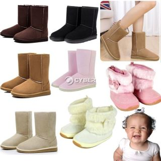 Suede Bow Baby Girls Soft Rubber soled Faux Fur Boots Winter Warm Snow Boot DZ88