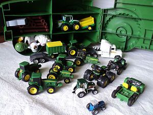 Ertl John Deere Carring Case Tractors Semi Toys Large Collection Accessories