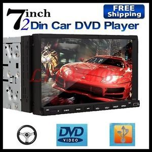 "2 DIN 7"" inch Touch Screen Car Stereo DVD CD FM Player Monitor Radio Microphone"