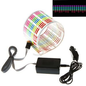 45 11cm Music Rhythm Sticker Light Lamp Auto Car Sound Activated Equalizer 12V