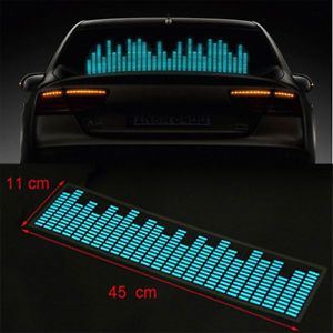 Sound Music Activated Sensor Car Sticker Equalizer Light Glow Flash LED Blue US