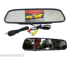 "4 3"" TFT Car Rear View Monitor Mirror LCD Color Screen for Car Reversing Camera"