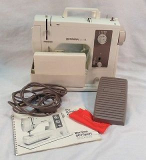 Bernina Sport 802 Sewing Machine Foot Pedal Power Cord Accessories Cover